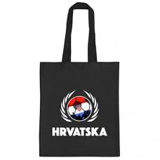 ShirtStreet Hrvatska Croatia Fussball WM Fanfest Gruppen natur Jutebeutel Stoffbeutel Tote Bag Fußball Kroatien