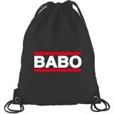 Shirtstreet24 BABO TAG Boss Anführer Chef Turnbeutel Rucksack Sport Beutel