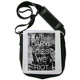 If Daryl Dies We Riot The Walking Dead Poster Schultertasche Herren Umhängetaschen Damen Taschen Unisex Shoulder Bag