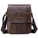 MANNUOSI Umhängetasche Leder Herren Leder Arbeit Taschen Mann Handtasche Herren Messenger Bag Braun