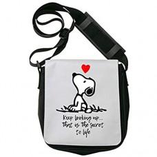 Snoopy Keep Looking Up Secret to Life Schultertasche Herren Umhängetaschen Damen Taschen Unisex Shoulder Bag