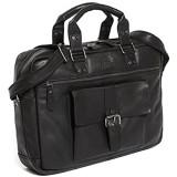 Solo Pelle Messenger Ledertasche/Umhängetasche aus echtem Leder Model: Amsterdam (geeignet für 15 6 Zoll Laptop`s) in Schwarz