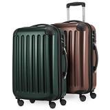 HAUPTSTADTKOFFER - Alex - 2er Handgepäck Kofferset Hartschale glänzend Kabinengepäck 55 cm 42 Liter TSA-Schloss 4 Doppelrollen