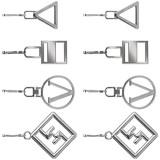 iFCOW Reißverschluss-Zuglasche 8-teiliges Reißverschluss-Reparatur-Set Metall-Reißverschluss-Kopf für Schuhe Gepäck Koffer Taschen Jacken