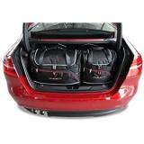 KJUST Dedizierte Kofferraumtaschen 4 STK Set kompatibel mit Jaguar XE I 2015 -