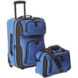 U.S. Traveler Rio Reisegepäck-Set robust erweiterbar königsblau (Blau) - US5600