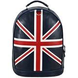 Union Jack Ledertasche Navy Weekend Reisetasche aus echtem Leder