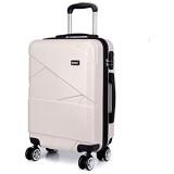 Kono Koffer Trolley Leichtgewicht ABS Reisekoffer L 65L 3 3kg Beige