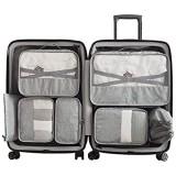 BAIVIT Reiseaufbewahrungstasche Satz Von 7 Multifunktionsverpackungswürfel Und Schuhbeutel Gepäckbekleidung Finishing Wasserdichter Reisegepäck-Organizer