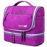 Kulturbeutel hängend Travel Kulturorganisators wasserdichte Cosmetic Bag DOP Kit große Kapazitäts-Dry und Wet Trennung Wash Bag Finishing Tasche für Frauen (lila)