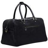 Schwarz Leder Reisen Machen Duffle Tasche Gepäck für Männer und Frauen