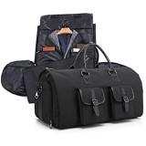 TFACR Anzug-Tragetasche Cabrio-Kleidersack mit Schultergurt Falten Sie wasserdichte Fitness-Tasche Business-Reisetaschen mit Independent-Schuhtaschen (schwarz)
