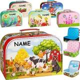 alles-meine.de GmbH Koffer / Kinderkoffer - Motivwahl - GROß - Jungen - Motiv - inkl. Name - 29 cm - ideal für Spielzeug und als Geldgeschenk - Pappkoffer - Puppenkoffer - Kinder..