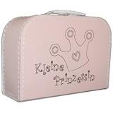 Kinderkoffer rosa mit Motiv Kleine Prinzessin Pappkoffer 25cm (Kleine Prinzessin Umriss)