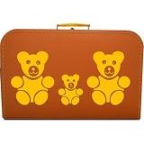 Pappkoffer Teddys Koffergröße 45 x 30 x 11 5 cm Farbe orange