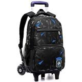 Rollrucksack für Jungen und Mädchen Schüler Bücher Laptop Travel Trolley Bag 45.0 x15.0 x33.0cm