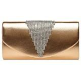 Caspar TA510 Damen Metallic Clutch Tasche mit ausgefallenem Strass Dekor