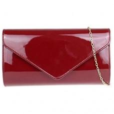 Girly Handbags Damen Plain Glänzend Clutch-Bag