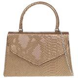 Girly Handbags Damen Schlangenhaut Top-Griff-Handtasche