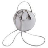 Harpily Damenmode Tasche Schlichtes Design Messenger Bag Weibliche Mini Runde Handtasche Elegante Kettentasche Damen Tasche Clutch Bag Handtasche Hochzeit Abendtasche UmhäNgetasche MäDchen