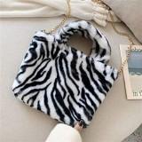 Ningb Fur Bag Animal Print Leopard Tasche Frauen Damen Winter warme Umhängetaschen Large Capacity Shoudler Clutch 8