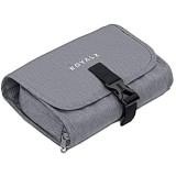 ROYALZ Kulturtasche zum Aufhängen für Damen und Herren - zum Reisen und Ausflüge als Waschtasche Kosmetiktasche Kulturbeutel - 100% Polyester wasserabweisend Farbe:Grau