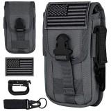 IronSeals Taktische Handy-Holster-Tasche taktische Smartphone-Taschen EDC Handyhülle Utility Gadget Tasche MOLLE-Befestigung Gürtelhalter Hüfttasche mit US-Flagge