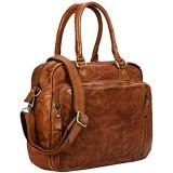 STILORD 'Amilia' Businesstasche Damen Leder Vintage Aktentasche mit 13 3 Zoll Laptopfach für MacBook große Umhängetasche aus echtem Rindsleder Farbe:Ocker - braun