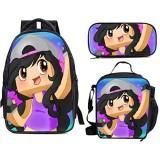APH-mau 3-teiliges Set Schulranzen Rucksack für Teenager Jungen Mädchen Reise Daypack und Lunchbox und Federmäppchen Kinder Laptop Rucksack