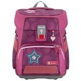 """Step by Step Schulranzen-Set e-Space """"Glamour Star"""" 5-teilig lila-pink ergonomischer Tornister mit Reflektoren höhenverstellbar mit elektrischem Hüftgurt für Mädchen ab der 1. Klasse 20L"""