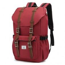 CALIYO Rucksack groß Damen Herren Freizeitsrucksack im Retro Desigh Reiserucksack mit 15 Notebook Fach Lässiger Daypacker Tagesrucksack viele Fächer Wanderrucksack Schulrucksack Schultasche