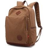 FANDARE Weinlese im Freien Reisen Wandern Rucksäcke Schulrucksack Backpack für Campus und Outdoor Daypacks Laptop Umhängetasche wasserdichte Segeltuch Frauen und Männer Kaffee