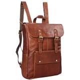 STILORD \'Manila\' Vintage Leder Rucksack Damen Herren XL Lederrucksack DIN A4 braune Rucksackhandtasche mit 15 6 Zoll Laptopfach großer Daypack aus echtem Leder Farbe:Cognac - braun