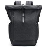 Baulanna Wasserdicht Laptop Rucksack Tasche Daypack Diebstahlsicherung Tagesrucksack Daypack Mode Rucksack Roll Top Rucksack mit USB fur 15.6 Zoll Notebook Damen Herren (fullblack)