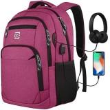 marcello Laptop Rucksäcke mit USB-Ladeanschluss Herren Damen für Arbeit Schule Uni Schulrucksack für Jungen Teenager mit Laptopfach & Anti Diebstahl Tasche