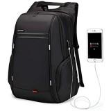 WindTook 17 Zoll Laptop Rucksack Herren Reiserucksäcke mit USB-Ladeanschluss Anti Diebstahl für Business Schule Uni Groß 33 x 18 x 49 Schwarz