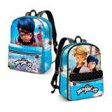 KARACTERMANIA Ladybug Courage-Reversible 2-in-1 Backpack (Small) Kinder-Rucksack 31 cm 7.5 liters Blau (Blue)