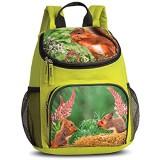 Kinder Rucksack - Eichhörnchen - Kinderrucksack - mit Hauptfach und Nebenfach Getränkenetz