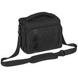 PEDEA DSLR-Kameratasche Fashion Fototasche für Spiegelreflexkameras mit wasserdichtem Regenschutz Tragegurt und Zubehörfächern (Größe XL schwarz)