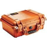 Peli Robuster Maximal Schützender Koffer IP67 Wasser- und Staubdicht 15L Volumen Hergestellt in Deutschland Ohne Schaum PELI 1450NF WL/NF ORANGE