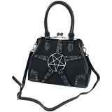 Banned Alternative Pentagram Frauen Handtasche schwarz Polyurethan Polyester Gothic Rockwear