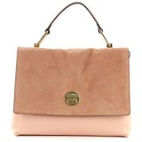 Coccinelle Liya Bicolor Top Handle Bag Rose/Litchi