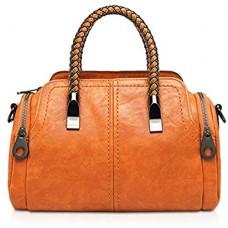 NICOLE & DORIS Damen Handtasche Shopper Elegant Schwarze Groß Damen Tasche für Schule Einkauf Hobo Taschen Lederimitat Umhängetasche Braun