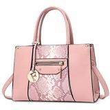 NICOLE & DORIS Damen Handtasche Shopper Handtasche Elegant Groß Damen Tasche für Büro Schule Einkauf Rosa