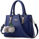 ZiXing Modetrend Handtaschen Schulter diagonal Tasche beiläufige Handtaschen Frauen Handtasche Dunkelblau