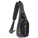 NANANANA Outdoor Crossbody Tasche Sport Schultertasche Wasserdicht Nylon Brusttaschen Laufen Sport Rucksack für Radfahren Reisen Angeln