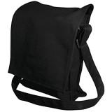 Rayher Hobby 38772576 Schultertasche mit verstellbarem Riemen schwarz 20 x 25 x 6 cm Beutel für Tablet/Tablettasche