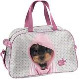 Ragusa-Trade Studio Pets - Kätzchen oder Hunde Welpen Sporttasche Reisetasche mit süßen Motiv für Jungen und Mädchen 40 x 25 x 13 cm