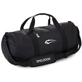 SMILODOX Sporttasche 2.0 | Barrel Bag ideal für Fitness Sport Gym & Reisen | Trainingstasche mit vielen Fächern Tragegurt & Schultergurt | Reisetasche - Tasche Rund