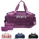 Sporttasche Reisetasche Damen Herren mit Schuhfach Nassfach Wasserabweisend klein Weekender Yoga Schwimm Wellness Fitness Gym